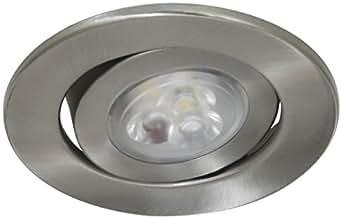 Ranex XQ1293 Spot Encastrable GU10 LED Variable 5 W Inox Brossé