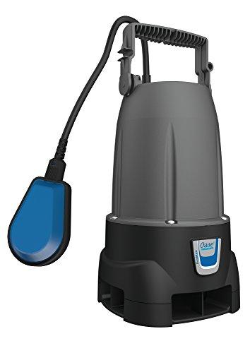 OASE 47748 Schmutzwasser Tauchpumpe ProMax MudDrain 6000, Korngröße max. 25mm, Förderleistung bis 6000l/h, nur 240W, Förderhöhe bis 5m, 7m Eintauchtiefe, stufenlos einstellbarer Schwimmerschalter, flexibler Tragegriff, 250 W, 230 V, Grau / Schwarz