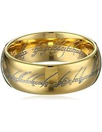Anillo del poder de El Señor de los Anillos, dorado, talla 9, diseño de Sauron, gran calidad