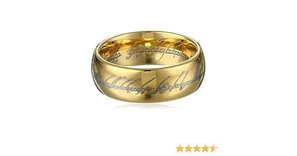 /Sauron Lord of The Ring BazarPRO Bague du Pouvoir du Seigneur des Anneaux Version Or Taille 8/