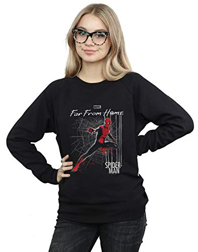 Marvel Damen Spider-Man Far from Home Web Tech Sweatshirt Schwarz XX-Large -