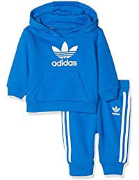 competitive price d0953 d119d adidas I TRF HOODIE Tuta Bambino, Blu (BluebirdBlanc), 3-