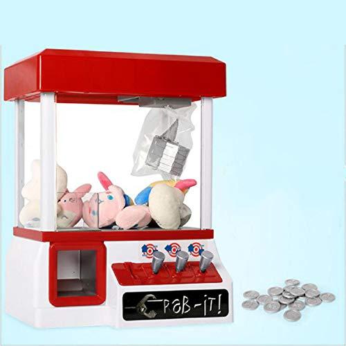 GOPLUS Spielautomat Candy Grabber Süßigkeitenautomat Süßigkeiten Greifer mit Musik Geld (rot)