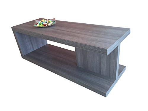 VE.CA-ITALY Tavolino basso salotto moderno in legno Rovere Grigio