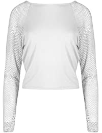 Amazon.fr   t-shirt resille - Beige   T-shirts et tops   Femme ... 46630ca21ef6