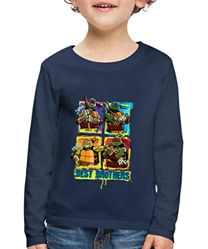 Spreadshirt TMNT Turtles Donnie Leo Mikey Raph Brothers Kinder Premium Langarmshirt, 122/128 (6 Jahre), ()