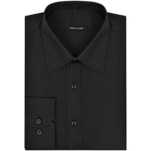 Vidaxl camicia uomo business slim fit elegante moderna xxl nera