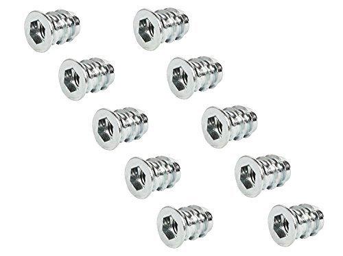 100x GedoTec® PROFI Einschraubmuffen Eindrehmuffe mit Abdeckrand   M6 x 15 mm   Einschraubmutter Stahl verzinkt   Antrieb: Innensechskant   Markenqualität für Ihren Wohnbereich