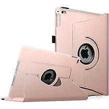 Fintie iPad Air 2 Funda - Giratoria 360 grados Smart Case Funda Carcasa con Función y Auto-Sueño / Estela para Apple iPad Air 2 (iPad 6th Generación 2014 Versión) 9.7 Inch iOS Tableta, Oro Rosa