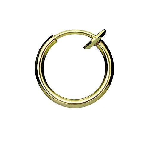 PiercedOff Septum Nasenpiercing Klemmring Fake Piercing (Gold Style)