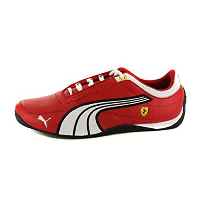 Kids Boys Girls Puma Drift Cat 4 Ferrari Red Leather Trainers UK 3.5 JNR /EUR 36