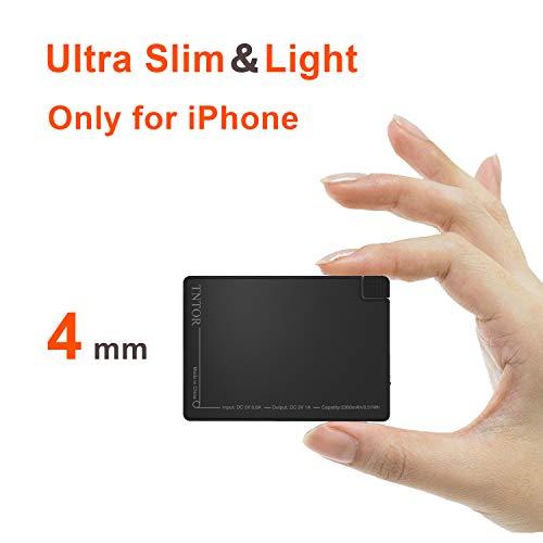 TNTOR 2500mAh Portable Power Bank-thinnest più...