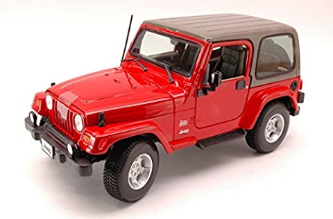 BURAGO BU12014R JEEP WRANGLER SAHARA 2006 RED 1:18 MODELLINO DIE CAST MODEL