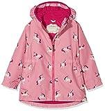 Hatley Mädchen Regenjacke Microfiber Rain Jackets, Pink (Majestic Unicorns), 6 Jahre