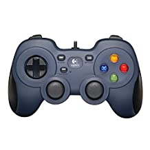 Logitech G F310 Gamepad, Gaming controller, console layout, 4 sWitch D-pad, 1.8meter kabel, PC/Steam/Windows/enroidTV - grijs/Zwart (Duitse verpakking)