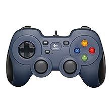 Logitech F310 Gamepad, Controller Cablato con Layout Stile Consolle, Tastierino Direzionale 4 Switch, XInput/DirectInput, Impugnatura Comoda, Cavo da 1.8 m, PC/Steam/AndroidTV, Blu/Nero