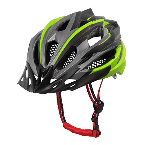 X-TIGER Cycle Helmet with Detachable Visor BMX Mountain Road Bicycle MTB Helmets Adjustable Cycling Bicycle Helmets for Adult Men&Women Outdoor Sport Riding Bike Fully CE Certified (Green)