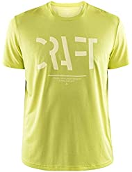 Craft EAZE SS Mesh tee M Camiseta, Hombre, Lima, Large