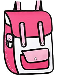 MissFox Chicas Caja De Cartón Diseño 3D Mini Bolsa Para La Escuela Libros ...