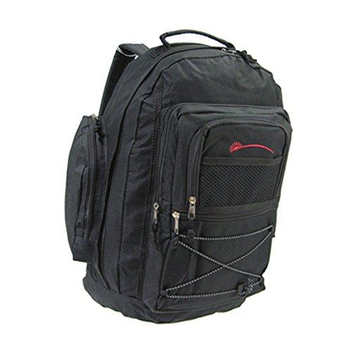 Friendz Trendz-sacchetti cerniera di viaggio dei bagagli Carry Daypack zaino di campeggio (navy/red) black