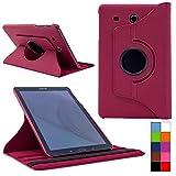 COOVY® Cover für Samsung TAB E 9.6 SM-T560 SM-T561 SM-T565 Rotation 360° Smart Hülle Tasche Etui Case Schutz Ständer | Farbe hotpink