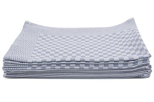 ZOLLNER® 10er-Set Küchenhandtuch / Geschirrtuch / Handtuch für Küche 46x70 cm anthrazit aus 100% Baumwolle, in weiteren Farben erhältlich, direkt vom Hotelwäschespezialisten, Serie