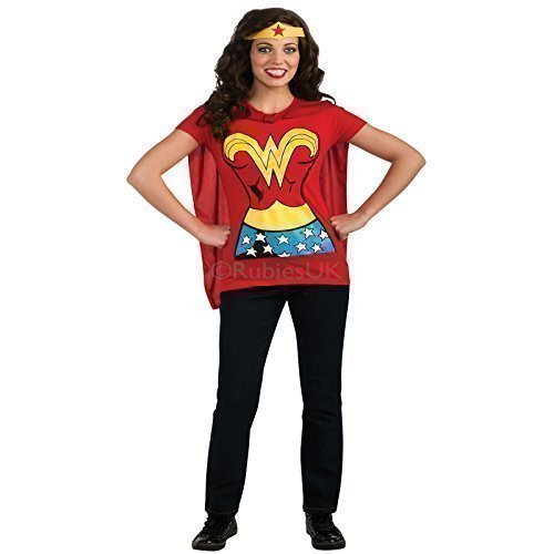 Rubies Wonder Woman T Shirt Kostüm - Rot, L 42 - (Kostüme Shirt Woman T Wonder)