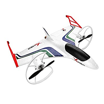 2.4G RC Plane, 6-Axis Gyroscope Stunt Fixed-Wing Strong-Powered Aircraft Glider, Children's Adult Outdoor Toys