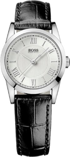 Hugo Boss Ladies Black Leather Strap Watch 1502281
