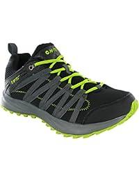 Hi-Tec - Botas de senderismo de malla para hombre multicolor negro y verde 41 EU
