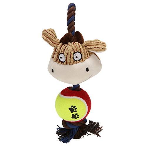 g, robust, unzerstörbar, Seil und Ball, zum Kauen, Spielzeug für kleine mittelgroße und große Hunde, AFFE, Kuh ()