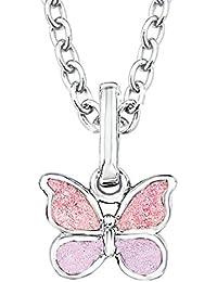 Prinzessin Lillifee Kinder-Kette mit Anhänger Schmetterling 925 Silber rhodiniert Emaille - 523011