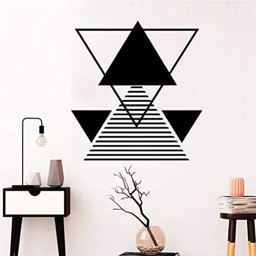 Qzheng 3D Muster Geometrie Mathematik Wandaufkleber Zimmer Schlafzimmer Klassenzimmer Haus Dekorieren Vinyl Tapete Kinderzimmer Wallstickers 58 * 61 Cm