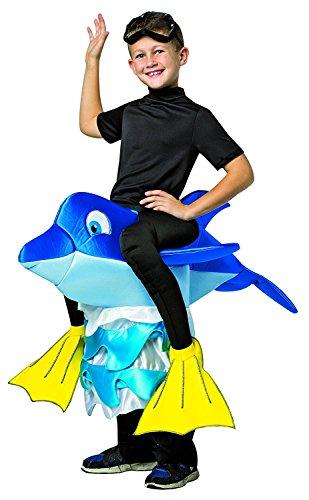 Delfine Reiter Kinder Jungen Kostüm Dolphin Rider Costume 7-10 Jahre (7-10 (Jungen Reiter Kostüm Für)