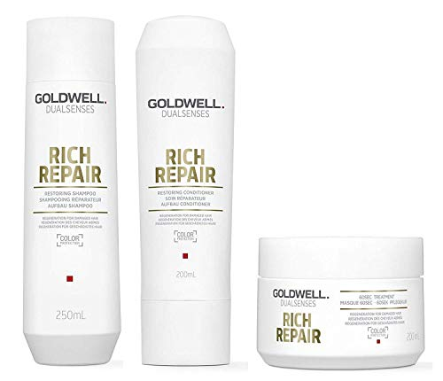 Goldwell Dualsenses Rich Repair SET Shampoo 250ml + Conditioner 200ml + 60Sek Kur 200ml -