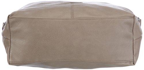 Tom Tailor Acc Miripu 10998, Borsa a tracolla donna, 39 x 36 x 11 cm (L x A x P) Grigio (Grau (taupe 21))