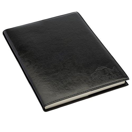 Aum originale, ricaricabile Journal-Diario in pelle sintetica per la vita-B5Carta Gazzetta Diario per scrivere, Gratitudine Diario, Diario Personale o un regalo speciale B5 - 18cm by 25cm Black Journal
