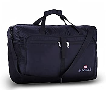 "Suvelle Lightweight 21"" Travel Foldable Duffel Bag For Luggage Gym Sports Water Resistant Nylon Duffle 3"
