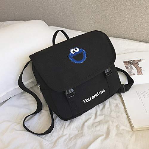 Frosch-Segeltuchbeutel 2019 Neue Koreanische Version Des Harajuku-Segeltuchrucksack-Mehrzweckkursteilnehmer-Schulterdiagonalkreuzbeutels 3 31 * 29 * 27 * 9Cm
