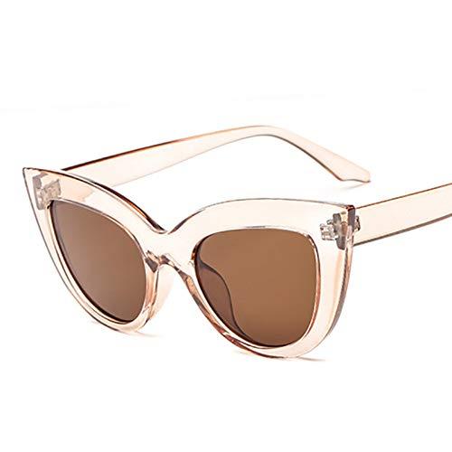 CCGSDJ Rose Gold Cat Eye Sonnenbrillen Für Frauen Rosa Spiegel Shades Weibliche Sonnenbrille Schwarz Weiß Beschichtung Cateye Aviation Oculos