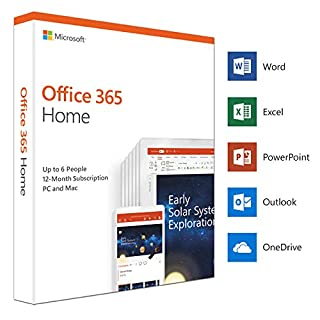 Microsoft Office 365 Home | up to 6 users | 1 year | PC/Mac | box (B07FZ5SH9J) | Amazon price tracker / tracking, Amazon price history charts, Amazon price watches, Amazon price drop alerts