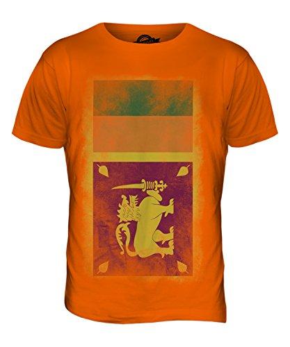 CandyMix Sri Lanka Verblichen Flagge Herren T Shirt Orange