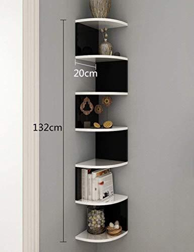Schwimmende Ecke Regal (Wand Bücherregal dreieckige Ecke Speichereinheit Display Regale schwimmende Partition CD DVD Regal Wohnzimmer Schlafzimmer Organisation Finishing Rack Bücherregal (Farbe: # 2, Größe: 20 * 132cm))