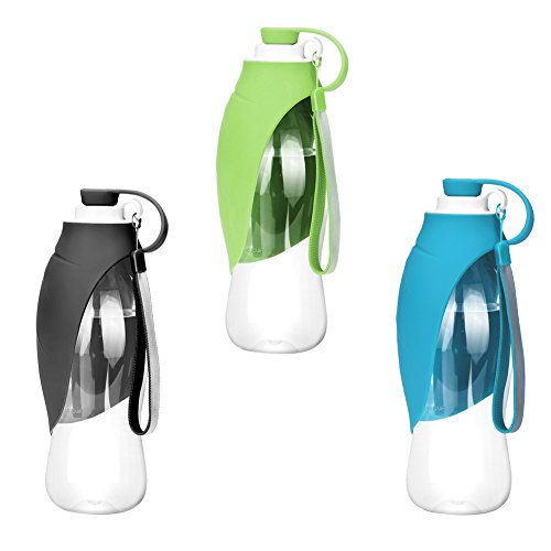 Sue pc portatile pet water bottle, reversibile e leggero dispenser di acqua per cani e gatti, in silicone di qualità alimentare