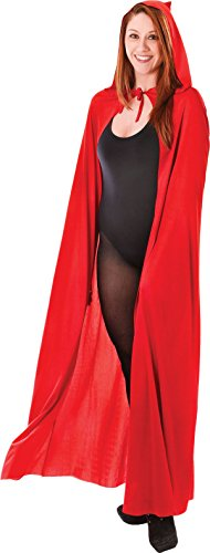 Fancy Kleid Kostüm Kapuzen Umhang Sensenmann Scary Outfit UK, Rot (Scary Halloween-outfits Uk)