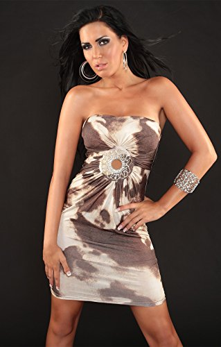 Sexy robe bandeau avec strass-element koucla by in-stylefashion sKU 0000ISF1416 Marron - Marron