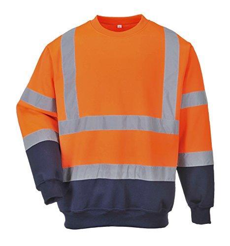 B306 - Two Tone Warnschutz-Sweatshirt PORTWEST B306 - Two Tone Warnschutz-Sweatshirt, 1 Stück, S, orange/marine, B306ONRS