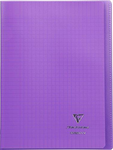 Clairefontaine Koverbook Heft mit Fadenbindung, 96Seiten, groß kariert, Einband aus Polypropylen violett (Sneakers Karierte)