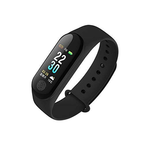 ShopAIS M3 Intelligence Bluetooth Health Wrist Smart Band Watch Monitor/Smart Bracelet/Health Bracelet/Activity Tracker/Smart Fitness Band Compatible for All Androids and iOS Phone/Tablet (Black)