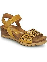 Dorking - Sandalias de Vestir de Cuero para Mujer Amarillo